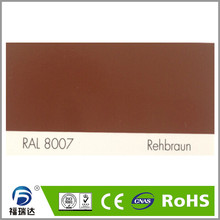 hybird polyester epoxy resin spray powder coating RAL8007 Fawn brown