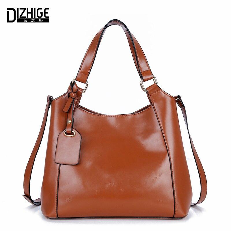 DIZHIGE Brand New Luxury Handbags Women Bag Designer PU Leather Bags Ladies High Quality Shoulder Bags Simple Women Handbags Sac<br><br>Aliexpress