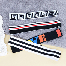 Women Men Elastic Headband Accessory Dance Biker Sport Headband Stretch Sweatband Hairband(China)