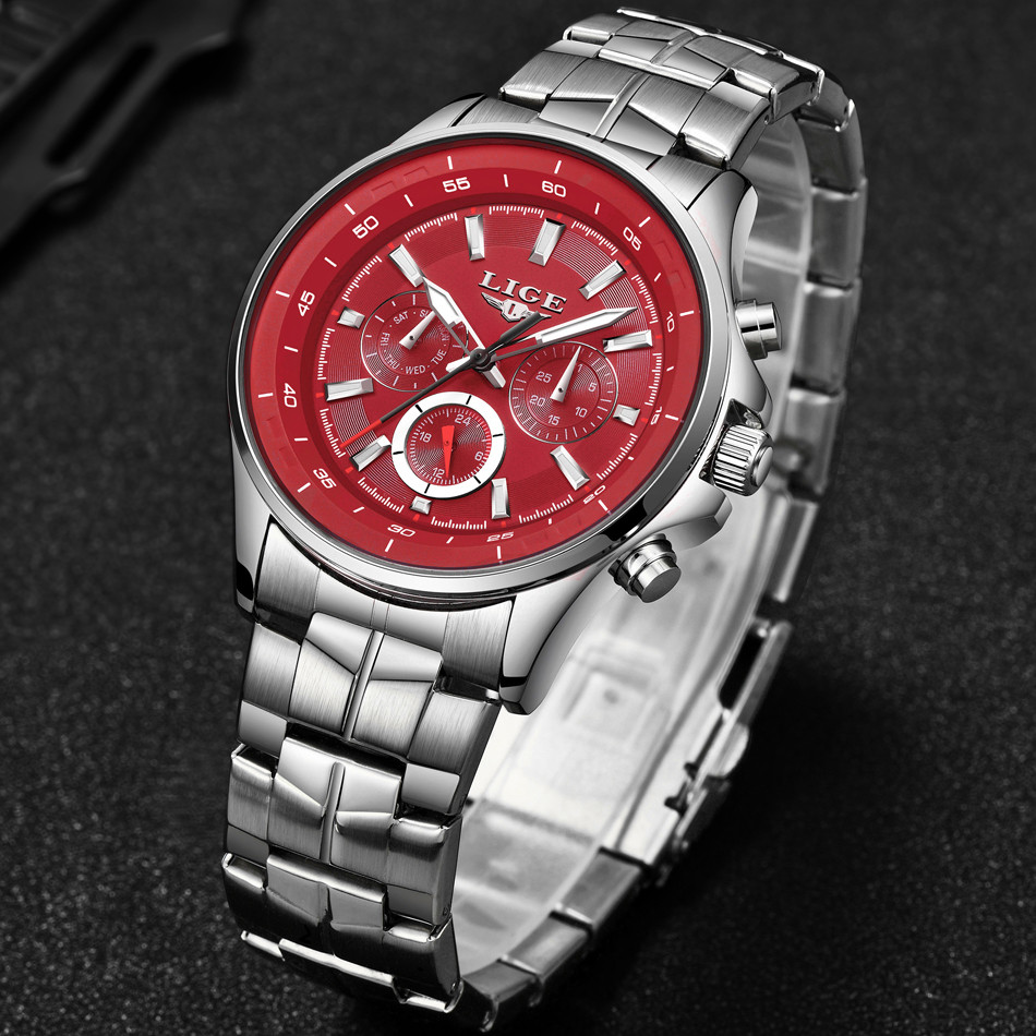 LIGE Mens Watches Waterproof Top Brand Luxury Quartz Watch Men Sport Watch Fashion Casual Military Clock Male Relogio Masculino 10
