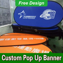 Free Design Free Shipping Vertical Top Banner Frame Pop Up A Frame Banner Outdoor Pop Up Banners(China)