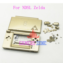For Zelda Edition Gold Housing Cover Case For Nintendo DS Lite DSL NDSL Replacement Shell(China)