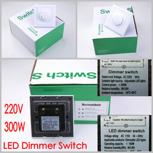 High quality 220V 300W LED Dimmer Switch Brightness Driver Dimmers For Dimmable LED lighting Lamp