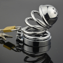 2017 Men's Stainless Steel Chastity Device  Metal Chastity Device  Dog Slave  Penis Lock  Penis Lock  Anti Lock Ring