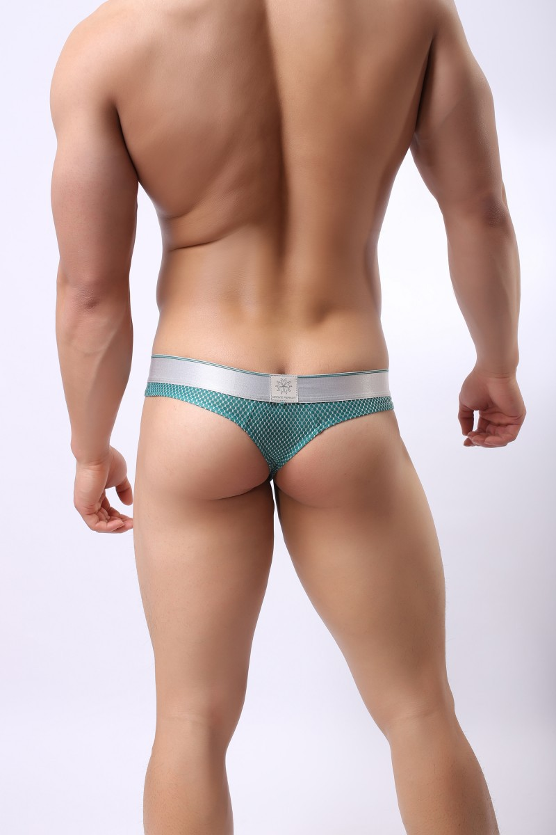 Stretch Jacquard Strap Polyester Cozy Undies For Gay