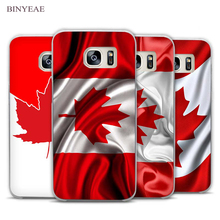 BINYEAE Canada Flag Transparent Phone Case Cover for Samsung Galaxy S3 S4 S5 S6 S7 Edge Plus Mini