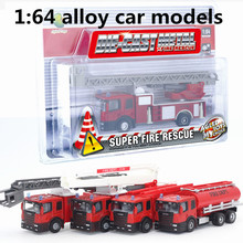 1:64 alloy car models ,high simulation fire truck,children favorite model,metal casting,toy vehicles,free shipping
