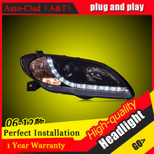 Auto Clud Car Styling For Mazda 3 headlights 2006-2012 For Mazda 3 head lamp led DRL front Bi-Xenon Lens Double Beam HID KIT(China)