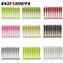 10pcs/lot Wobblers Soft Bait Saturn Worm 0.7g 4.7cm Swimbaits Silicone Soft Lure Carp Artificial Soft Lures for Fishing Peche(China)
