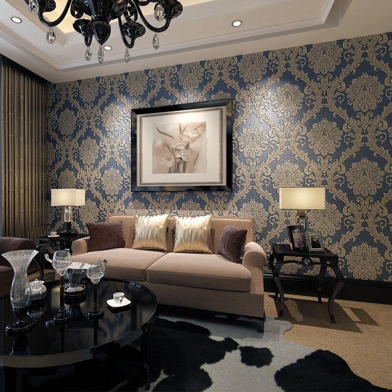 Beibehang European bronzing Damascus 3D wallpaper roll papel de parede living room bedroom background wall paper home decor<br>
