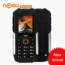 Original NOMU T10 IP68 Waterproof Dustproof Shockproof Cellphone MTK6261A 2'' 32M+128M 0.3MP Camera 2800mAh Battery Mobile Phone(China)