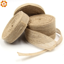 Buy 10M/Lot Jute Burlap Rolls Hessian Ribbon Lace Rustic Vintage Home Garden Wedding Decoration DIY Ornament Burlap Supplies for $1.78 in AliExpress store