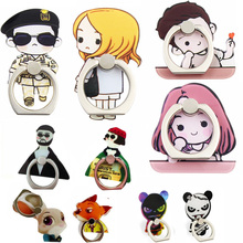 360 Ring Holder Stand 3D Cartoon Support Finger Bracket Smart Phones Couple Lover Pair Korean Matilda Leon Panda Women Lady Girl