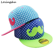LOVINGSHA Unisex Kids Adjustable For 3-8 Years Old Children Canvas Beard Hip-Hop Baseball Caps Boys Girls Snapback Cap C-5