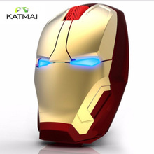 KATMAI Hot Iron Man Gaming Mouse Wireless Mouse Optical Mute Button Mice For Mouse Gamer Steelseries Mouse Sem Fio For PC Laptop(China)
