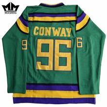 MM MASMIG Mighty Ducks #96 Charlie Conway Movie Hockey Jersey Green For Free Shipping S M L XL XXL XXXL(China)