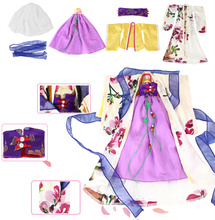 Fortune days East Charm Chinese style outfit gorgeous dress Ancient girl only clothes gift toy(China)