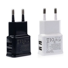 New Universal Dual USB EU plug  5V 2A Wall Travel Power Charger Adapter for iPhone5 iPhone7 6 6S plus HTC SAMSUNG Galaxy S6