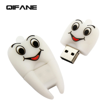 QIFANE Super cute cartoon 8G16GU disk tooth U disk tooth U disc pen drive of tooth U disk creative usb flash drive memory stick(China)