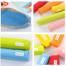 Fashion Popular New Students Pen Pencil Case Canvas Bag Cosmetic Makeup Pouch Coin Purse Buy food to carry wallet(China)