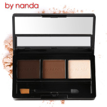 BY NANDA Professional Eye Brow Makeup Waterproof Glitter and Shimmer Eyebrow Powder Palette Eye Shadow Make Up Set Kit Bhs
