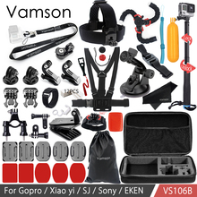 Buy Vamson Gopro Accessories Kit SJCAM Xiaomi yi Eken H9R Gopro Hero 6 5 4S Mount Selfie stick Tripod Yi 4K VS106B for $38.12 in AliExpress store