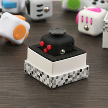 50pcs/lot Original High Quality Fidget Cube 3.3x3.3cm Frosted Surface Good Hand Feeling Desk Spin Magic Cubes Stress Relief Toys(China)