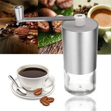 Durable Aluminum Hand Manual Coffee Grinder Beans Rice Maker Handle Grinder Herb Spice Nuts Burr Grinding Espresso Blender Mill