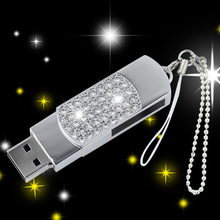 Fashion Crystal USB Flash Drive Pendrive 128GB 16GB 32GB Jewelry Memory Stick Pen Drive 512GB Gifts Creativo USB 3.0 Key 64GB
