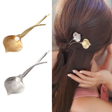 M MISM Fashion Wedding Hair Jewelry Flower Barrettes Solid Metal Leaf Pearl Hair Clips Hairpins Hair Accessories for Women Girl