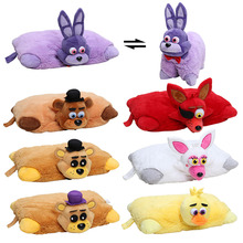 43cm*30cm Hot Sale Decorative Pillow Five Nights at Freddy's plush cushion FNAF Stuffed Plush toys baby pillow Christmas Gift(China)