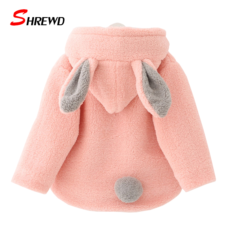 Girls Coats Jackets 2017 New Winter Fashion Rabbit Ears Hooded Jacket For Girls Thick Long Sleeve Zipper Children Clothing 4461ZОдежда и ак�е��уары<br><br><br>Aliexpress