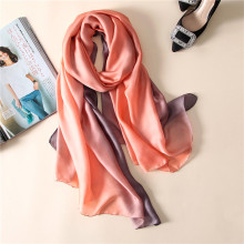 2017 new fashion women's scarf soft solid summer shawls silk scarves pashmina femme bandana
