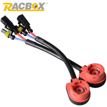 RACBOX 2pcs D2S D2R D2C Xenon HID Bulb Socket Wire Cable Adaptor Connector Harness Female Plug Adaptor Convertor Socket Cables(China)