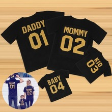 2017 New Arrival Family Look Family Clothing short Sleeve t shirt DADDY MOMMY KID BABY Girl Boy Clothes Family Matching Clothes(China)