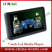 7 inch HD supermarket plastic shell USB SD Auto play advertising media player Manufacturer Speedy Delivery