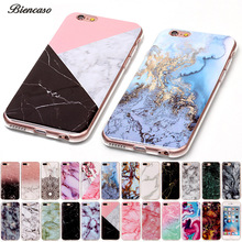 Biencaso Marble Soft TPU IMD Silicone Back Cover Case For iPhone 4 4S 5 5C 5S SE 6 6S 7 Plus iPod touch 5 6 Fundas Coque B02