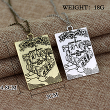 The Marauder 's Map Hogwarts Art Pendant Cool Necklace High Quality Gift For Fans Movie Jewelry Collection Factory Direct Sale