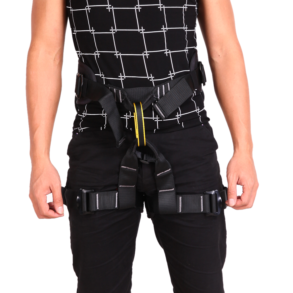 500kg Load Weight Harness Bust Seat Belt Outdoor Rock Climbing Harness Rappelling Equipment Harness Seat Belt with Carrying Bag<br>