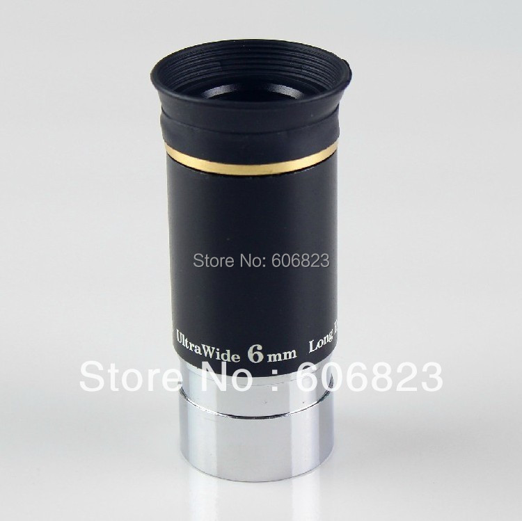 New 1.25 F6mm 66 Degree Wide Angle Eyepiece for Telescope<br>