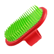 Hard Plastic Dog Bath Brush Pet Beauty Grooming Cleaning Tools Massage Scrub Brushes For Medium Large Dogs and Cats(China)