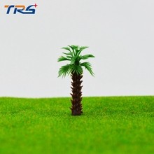 free shipping 40mm architectural model palm tree plastic miniature coconut model palm tree