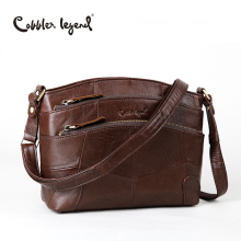 Cobbler Legend Multi Pockets Vintage Genuine Leather Bag Female Small Women Handbags Bags For Women 2017 Shoulder Crossbody Bag(China)