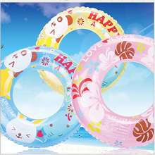 Diameter About 57cm New PVC Inflatable Toys For Children Japan Cartoon Crystal Thicken Swimming Ring Life Buoy Pool Games Toys