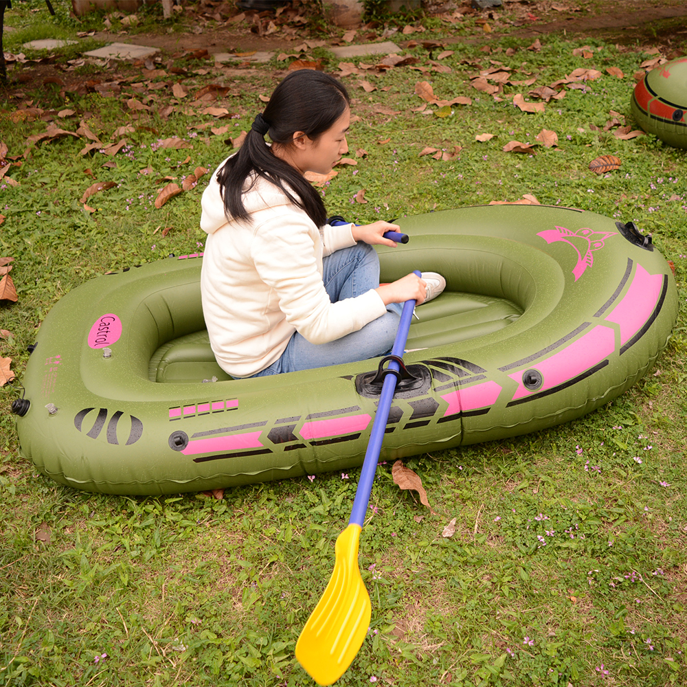1 Person Inflatable Fishing Boat High Quality Liferaft Rubber Boat 170x100cm PVC Portable Drifting Fishing Boat with Paddles (7)