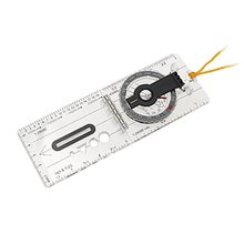 ELOS-Mini Baseplate Compass Map Scale Ruler Outdoor Camping Hiking Cycling Scouts Military Compass f