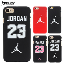 JAMULAR flyman Michael Jordan Phone Case For iPhone 7 6 6s 8 Plus Cover Matte Hard Plastic Back Cover for iphone 6 6s 5s SE Case(China)