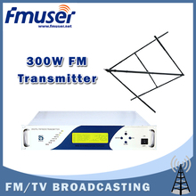 Free shipping FMUSER CZH618F-300C FM transmitter Radio Broadcaster 0~300w +CP100 Circular Polarized Antenna + 20m SYV-50-7 Cable