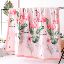 New Arrival Bedding Flamingo Thin Summer Quilt Aircondition Blankets Tropical Plant Leaves Comforter Bed Cover for Adults Kids(China)