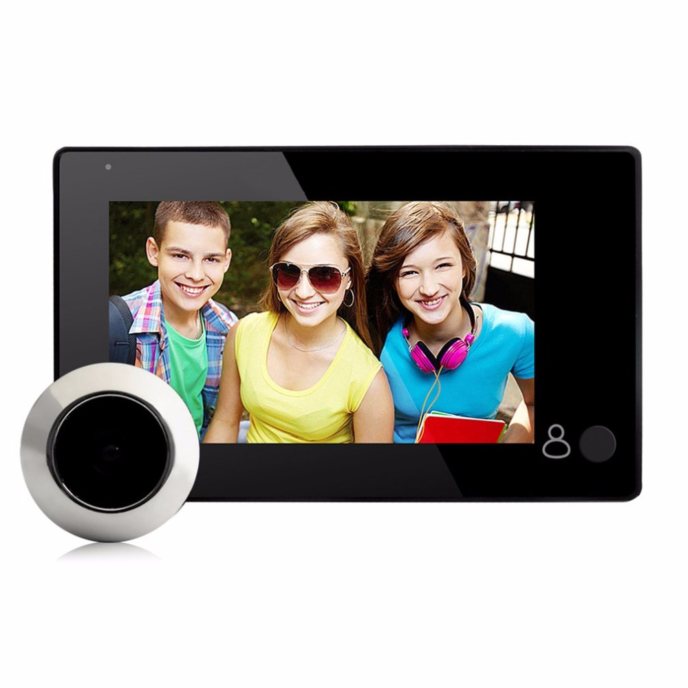43CH Professional 4.3 Inch TFT Display Visual Monitor Door Peephole Camera 145 Viewing Degree Wireless Viewer Camera<br>